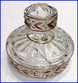 SAINT LOUIS cristal bel ensemble de toilette 7 pièces flacons pot baguier vapo
