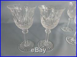 SAINT LOUIS lot de 6 verres à vin en cristal modèle TOMMY 15 cm, tous signés 2