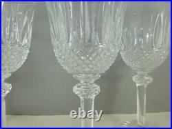 SAINT LOUIS modèle TOMMY 4 verres à eau 18 cm estampillés