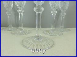 SAINT LOUIS modèle TOMMY 5 flûtes à champagne 20,5 cm estampillées