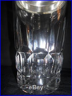 Shaker+ 6 Verres Vodka Cristal St Louis Metal Argenté Poinçonné Modèle Manhattan