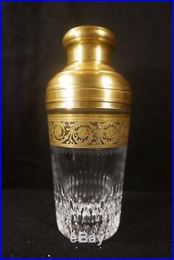 Shaker En Cristal De Saint Louis Modèle Thistle Doré À L'or Fin