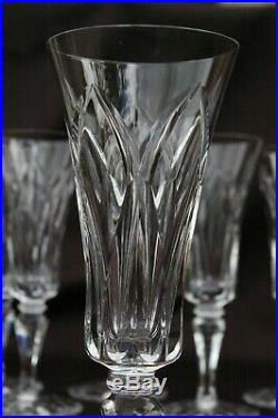 ST LOUIS 6 Flûtes à Champagne en cristal taillé modèle CAMARGUE H 18,5cm