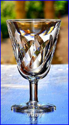 ST. LOUIS 6 verres à vin en cristal taillé, modèle BIDASSOA CACHET L'ACIDE SIGNE