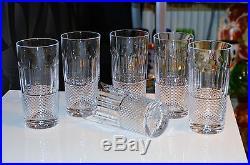 SUBLIME SERIE des 6 verres a orangeade ou degestifs en cristal de ST. LOUIS TOMMY
