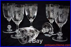 Série de 6 verres à eau en cristal de Saint Louis modèle Cléo