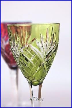 s rie de 6 verres vin du rhin roemer cristal de saint louis chantilly 21 5 cm verres cristal. Black Bedroom Furniture Sets. Home Design Ideas