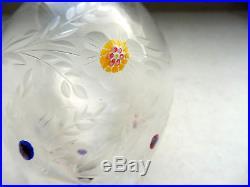 Saint Louis 6 Verres En Cristal Eau Gravés Incrustés De Bonbons Cristallo Ceram