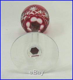 Saint Louis, 6 très beaux verres à liqueur rouges, modèle Massenet, parfait état