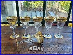 Saint Louis 6 verres à vin modèle Thistle