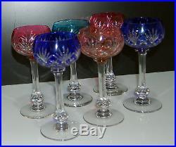 serie de 6 verres vin d alsace en cristal estampill saint louis france verres cristal st. Black Bedroom Furniture Sets. Home Design Ideas