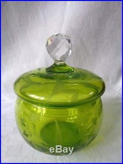 Saint Louis Art Nouveau Saké Set Service Liqueur Cristal Gravé Couleur Coloré Aa