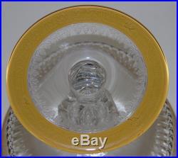 Saint Louis Belle coupe à fruit sur piédouche en cristal, modèle Thistle