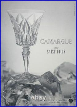 Saint Louis Camargue Verres A Vin Roemer Cristal Taillé Doublé De Couleur Coloré