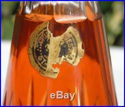 Saint Louis Carafe à liqueur en cristal doublé modèle Massenet, couleur orange