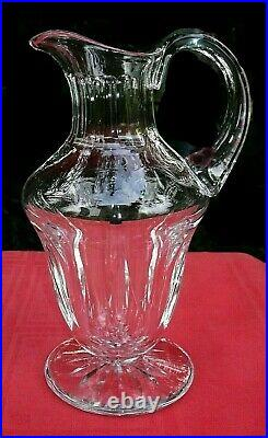 Saint Louis Cerdagne Decanter Broc Pichet Carafe Eau Orangeade Cristal Taillé D