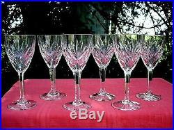 Saint Louis Chantilly 6 Water Glasses Wassergläser Verres A Eau Cristal Taillé