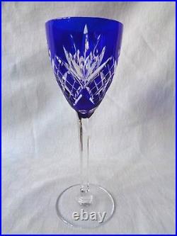 Saint Louis Chantilly Verre A Vin Roemer Cristal Taillé Doublé De Couleur Coloré