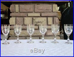 Saint Louis Cléo pattern, 6 verre à vin cristal