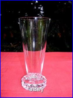 Saint Louis Diamant 6 Tall Fluted 6 Flutes A Champagne Cristal Taillé Art Deco
