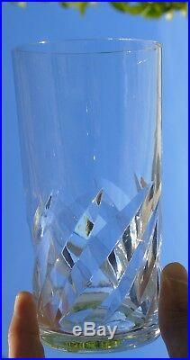 Saint Louis Lot de 5 verres à orangeade en cristal, modèle Bidassoa