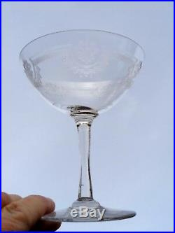 Saint Louis Manon 6 Champagnergläser 6 Coupe A Champagne Cristal Gravé Kristall
