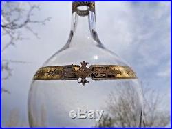 Saint Louis Manon Gilt Wine Water Decanter Carafe A Vin Cristal Gravé Or Dorée