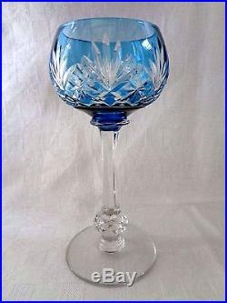saint louis massenet 6 verre vin cristal roemer taill doubl de couleur color verres cristal. Black Bedroom Furniture Sets. Home Design Ideas