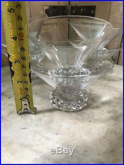 Saint Louis Modèle Diamant 6 Coupe Flûte a Champagne Cristal Art Deco Design