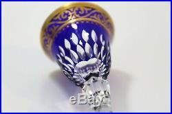 Saint-Louis Modèle Stella Verre du Rhin bleu or en cristal Estampillé
