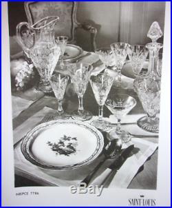 Saint Louis Niepce 6 Verres A Vin Cristal Roemer Taillé Doublé De Couleur Coloré