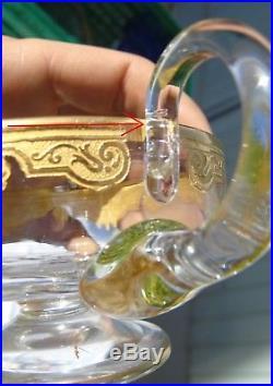 Saint Louis Partie de service à glace cristal dégagé à l'acide et rehauts d'or