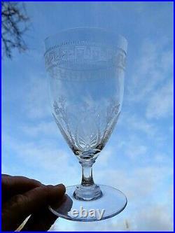 Saint Louis Pasteur Wine Glasses Verre A Vin Cristal Gravé Napoleon Empire 19e D