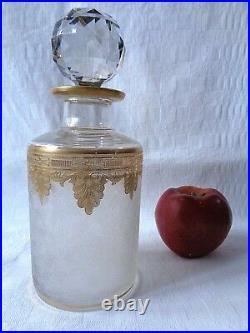 Saint Louis Perfume Bottle Crystal Cameo Glass Flacon De Parfum Grave Acide Or A