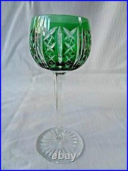 Saint Louis Riesling Verres A Vin Cristal Roemer Taillé Doublé De Couleur Coloré