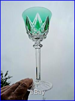 Saint Louis Sammy Tommy 6 Verres A Vin Roemer Cristal Doublé De Couleur Coloré