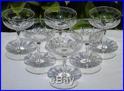 Saint Louis Service de 6 coupes à champagne en cristal, service Madrid