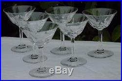 Saint Louis Service de 6 coupes à champagne en cristal taillé, modèle Cerdagne