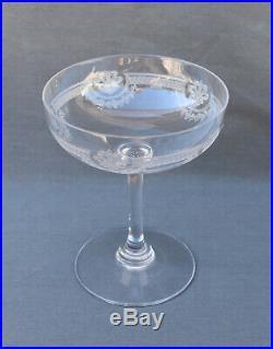 Saint Louis Service de 6 coupes à champagne en cristal taillé, modèle Manon