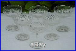 Saint Louis Service de 6 coupes à champagne en cristal taillé, modèle Roty