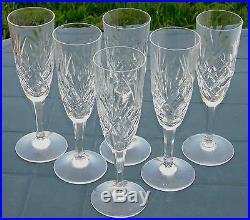 saint louis service de 6 fl tes champagne en cristal mod le chantilly verres cristal st louis. Black Bedroom Furniture Sets. Home Design Ideas