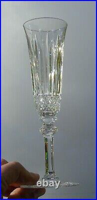 Saint Louis Service de 6 flûtes à champagne en cristal taillé, modèle Tommy