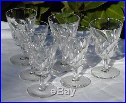 Saint Louis Service de 6 verres à eau en cristal, modèle Bidassoa Signés