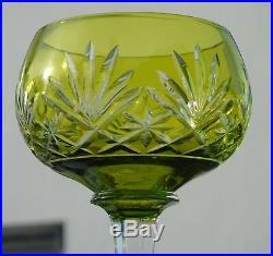 Saint Louis Service de 6 verres à vin en cristal doublé, modèle Massenet
