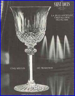Saint Louis Tommy Verre A Vin Roemer Cristal Doublé De Couleur Coloré Bleu Clair