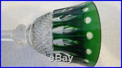 Saint Louis Tommy Verre à roemer vert 19,8cm Estampillé et étiquette NEUF