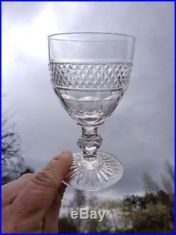 Saint Louis Trianon 6 Verre A Vin Cristal Taillé 19ème Xixème Empire Weingläser