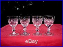 Saint Louis Trianon Wine Glasses Verre A Vin Cristal Taillé 19ème Xixème Empire
