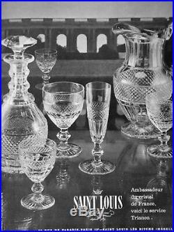 Saint Louis Trianon Wine Water Decanter Carafe A Vin Cristal Taillé 19ème Xixème