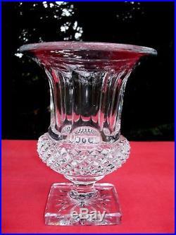 Saint Louis Vase Médicis Versailles Cristal Taillé 19eme Xixeme 19 Eme XIX Eme B